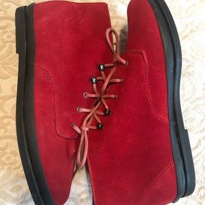 Vintage Keds red booties/sneakers